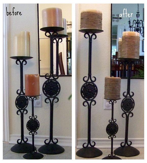 candle before and after
