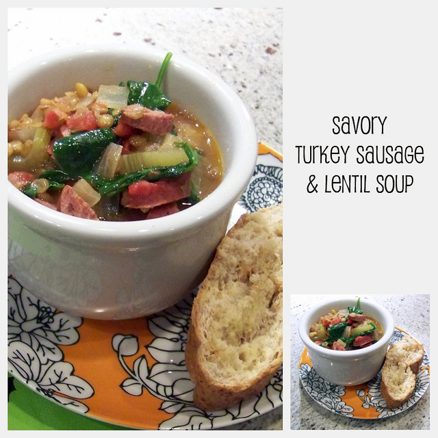 {Git In Mah Belly} Savory Turkey Sausage & Lentil Soup