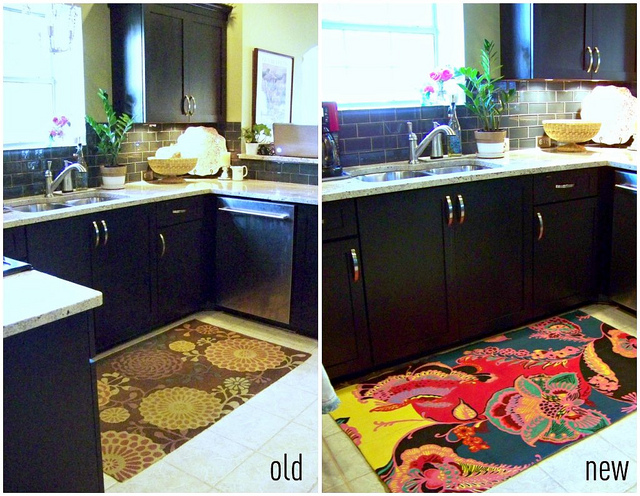 new kitchen rug collage