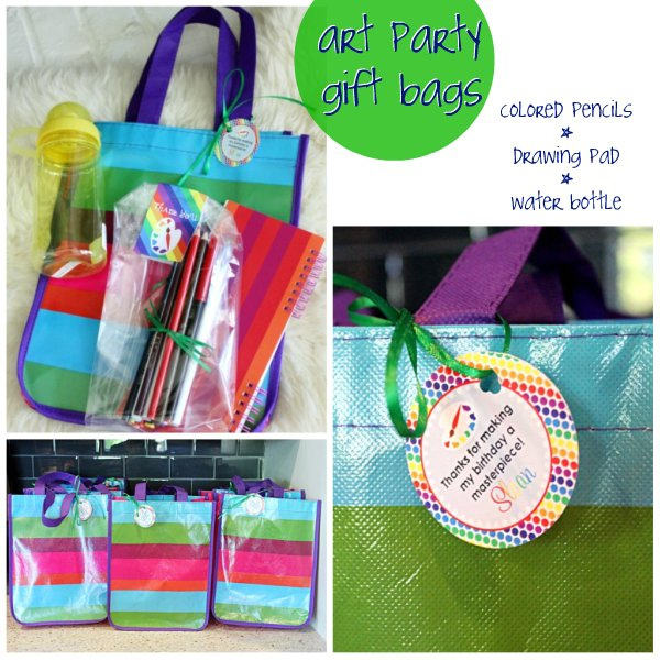 art party gift bag