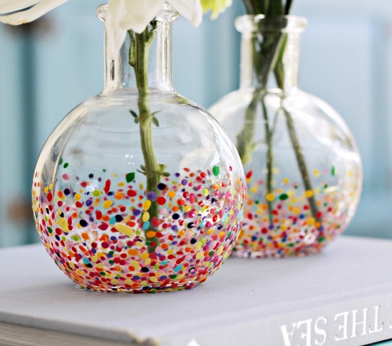 Anthropologie style Confetti Vases
