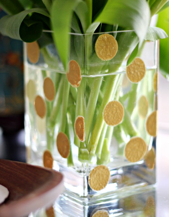 Hi Sugarplum | Gold Dot Vase