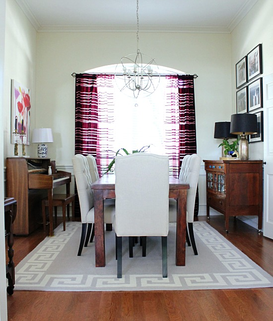 Dining Room greek key rug