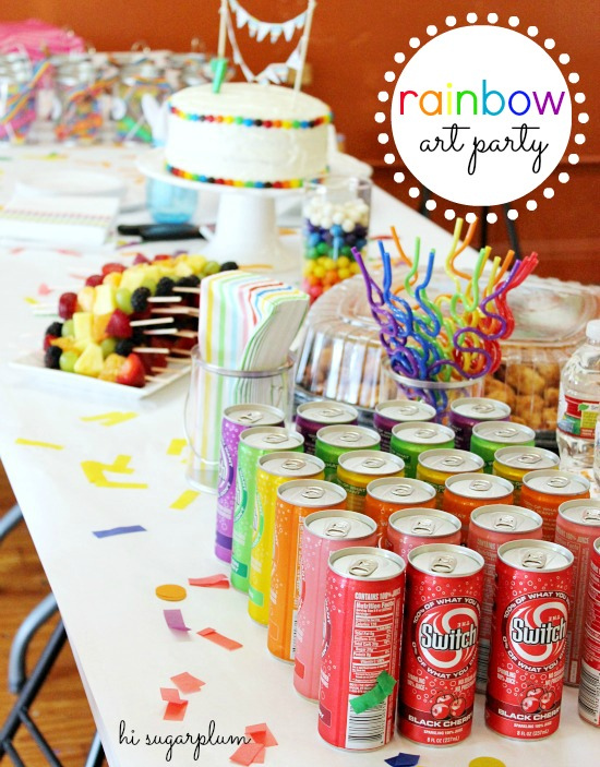 Hi Sugarplum | Rainbow Art Party