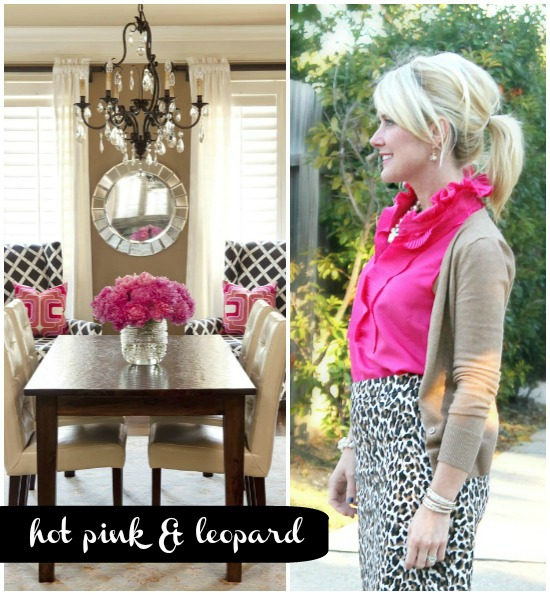 Hi Sugarplum | {Outfit Inspiration} Hot Pink & Leopard