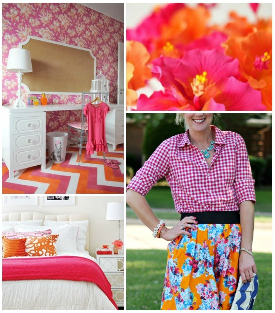 Hi Sugarplum | {Outfit Inspiration} Pink & Orange