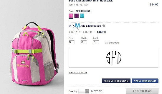 Hi Sugarplum | Lands End backpack