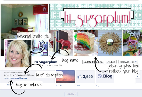 Hi Sugarplum | Tips on building your blog with Facebook
