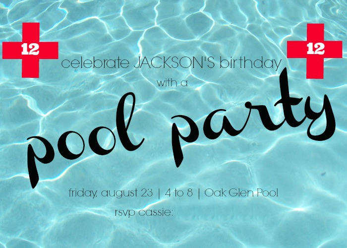 Hi Sugarplum | Pool Party Invite