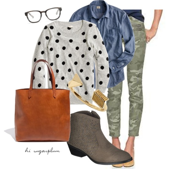 Camo & Dots Fall Outfit