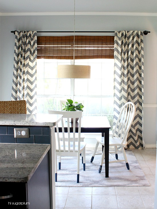 Hi Sugarplum | Breakfast Room West Elm drapes