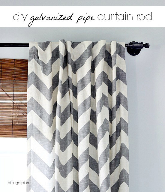 Hi Sugarplum | Galvanized Pipe Curtain Rod