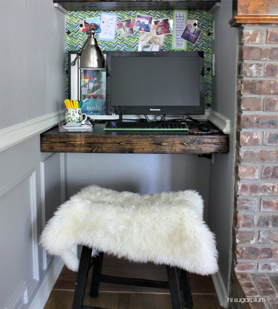 Hi Sugarplum | Organized Desk Nook