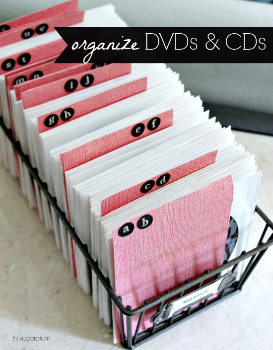 Hi Sugarplum | Organized DVDs & CDs