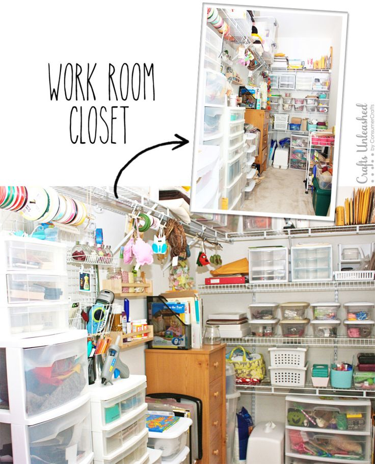walk in craft closet