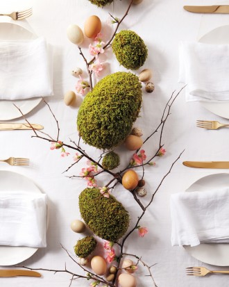 Moss-Egg Centerpiece