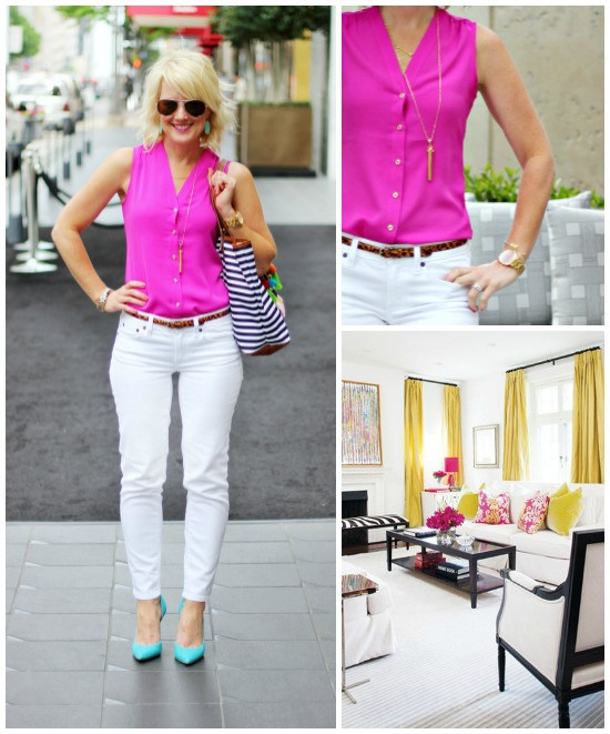 Hi Sugarplum | {Outfit Inspiration} Fuchsia & White