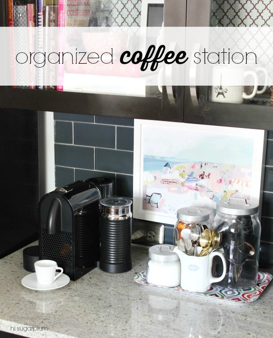Hi Sugarplum | Organized Coffee Station