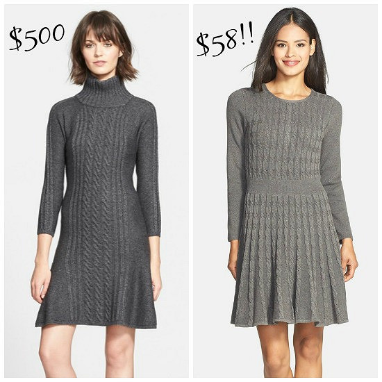 Hi Sugarplum | Splurge vs Save Sweater Dress