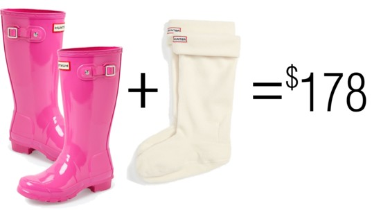 Hunter Wellie + Sock Combo High End