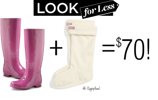 Rain Boot + Hunter Sock Look for Less