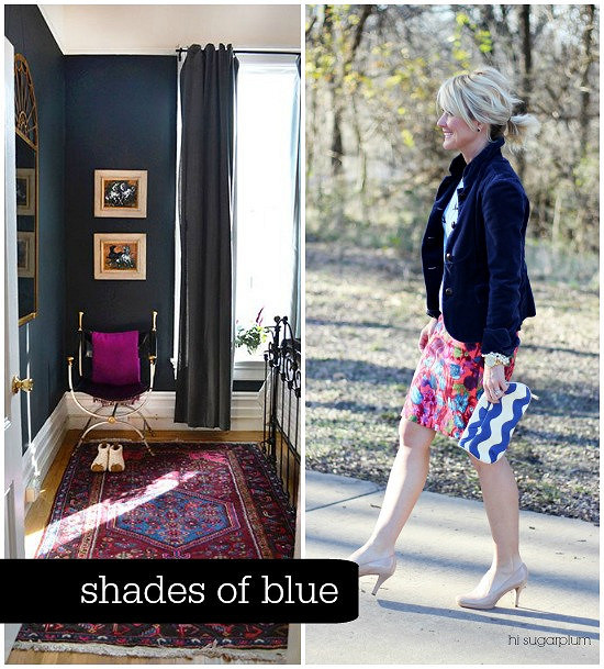 Hi Sugarplum | {Outfit Inspiration} Shades of Blue