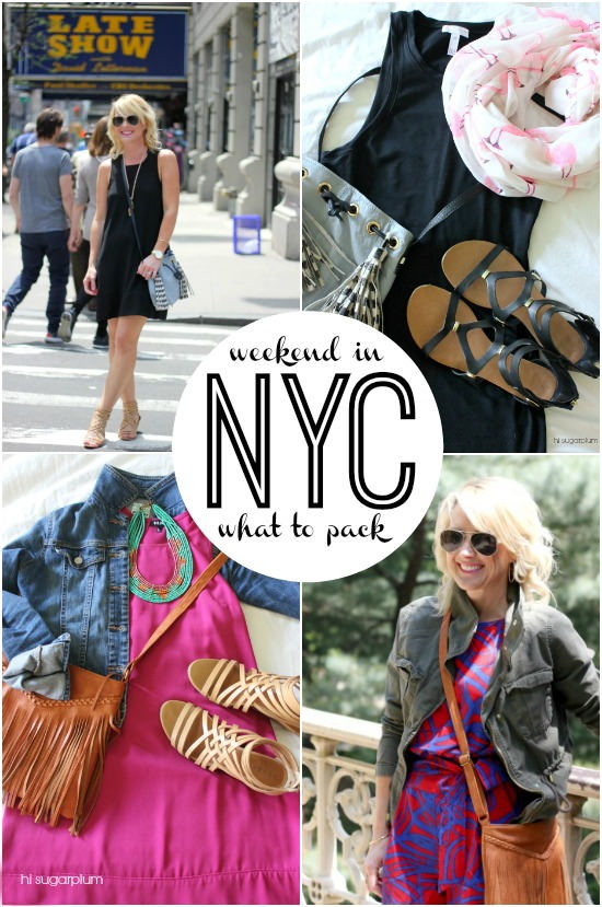 Hi Sugarplum | Packing for a NYC weekend