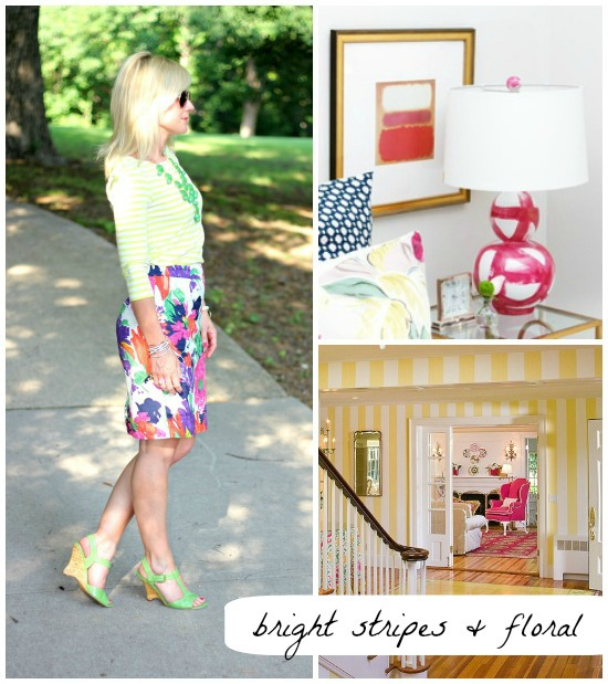 Hi Sugarplum | Bright Stripes & Floral outfit