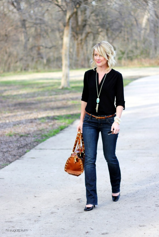 Hi Sugarplum | {3 Ways} to Wear Jeans to Work