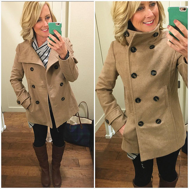 Lots of questions & hub-bub about this coat, so here's the scoop: 1️⃣Its 50% off & only $28 shipped! 2️⃣Excellent quality & fit 3️⃣So chic with almost every outfit 4️⃣Runs small, so size up 5️⃣Comes in 4 great colors (I have two so far!) :sw
