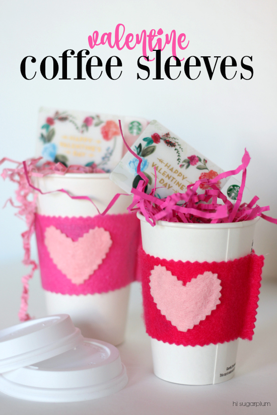 Hi Sugarplum | Valentine Coffee Sleeves/Teacher Gift