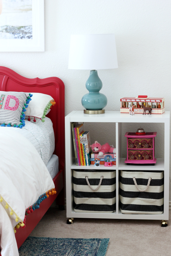 Hi Sugarplum | Kallax Nightstand Hack