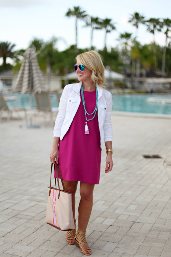 tassel necklace spring outfit