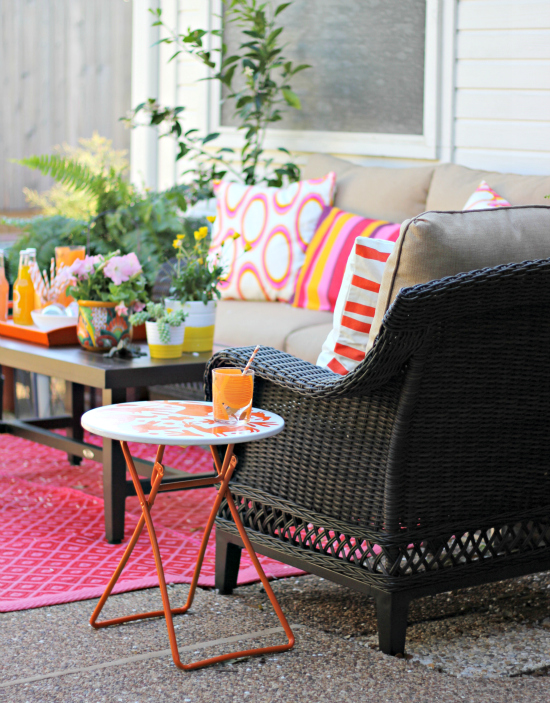 Hi Sugarplum | Cheery Outdoor Patio