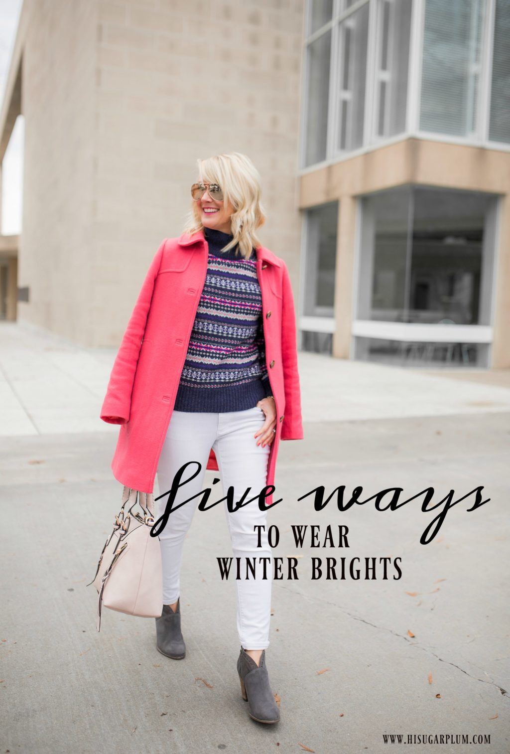 five ways to wear winter brights