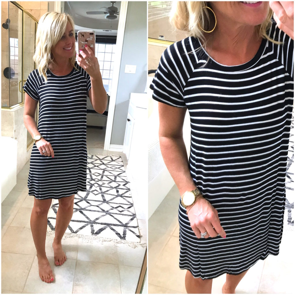 bobeau striped dress