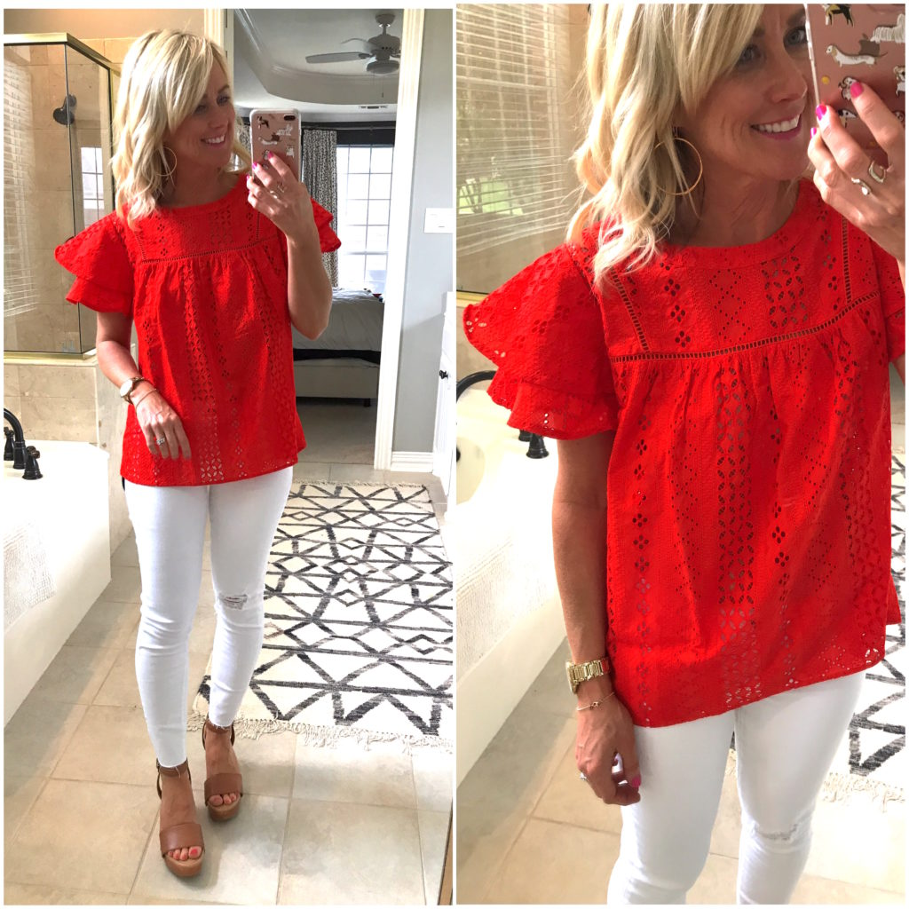 ruffle sleep top