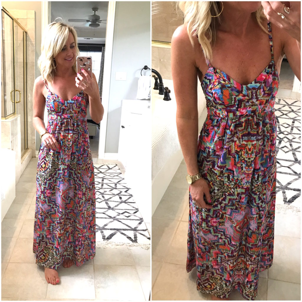watercolor maxi dress petite
