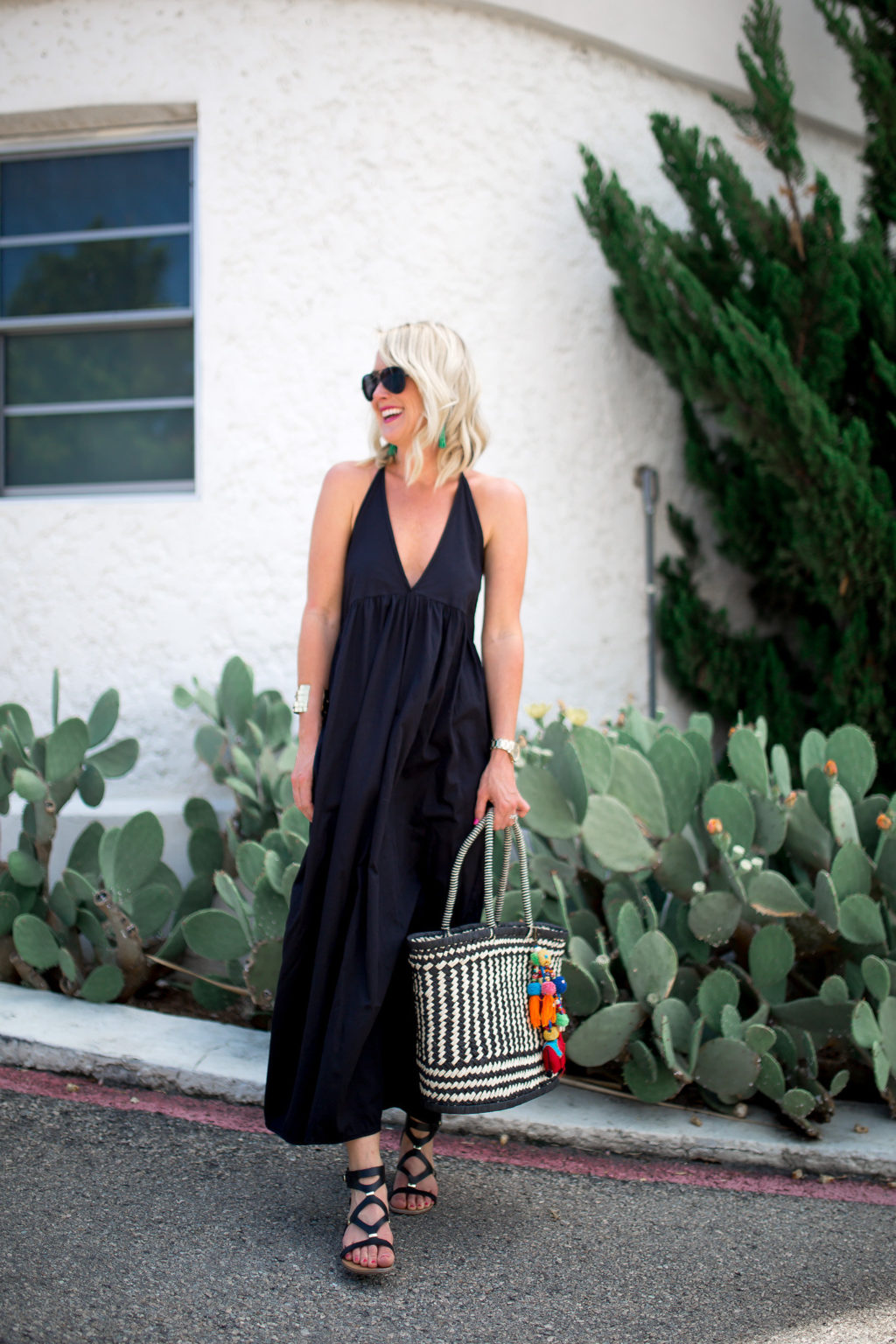 anthropologie black maxi dress for summer