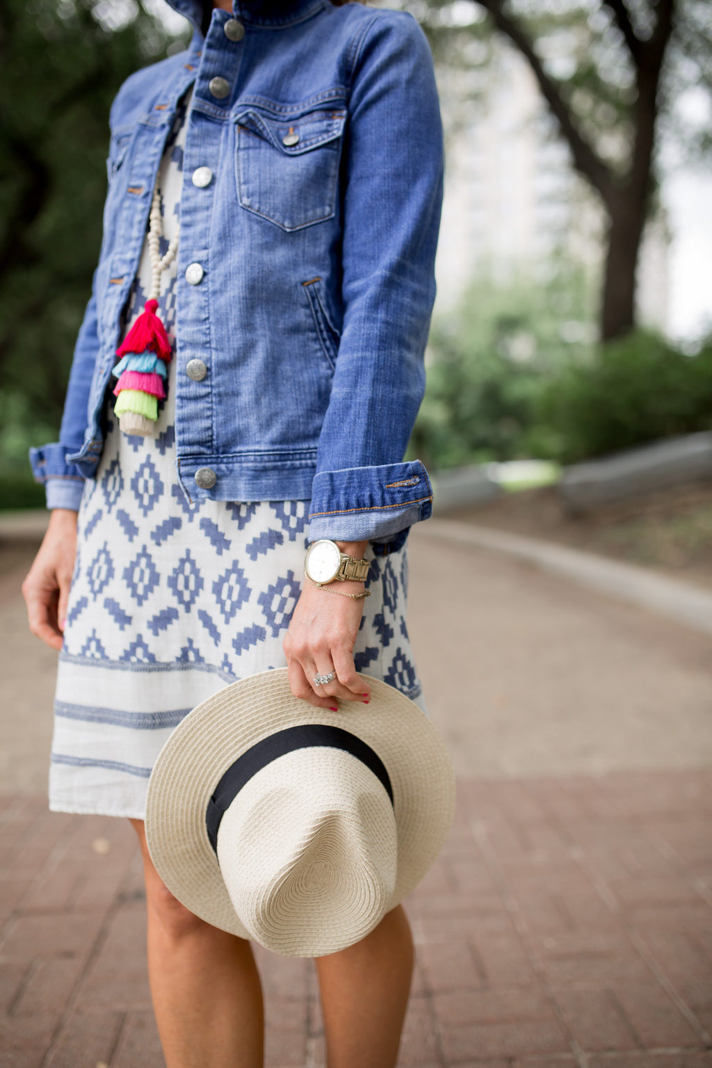 layer jean jacket in summer