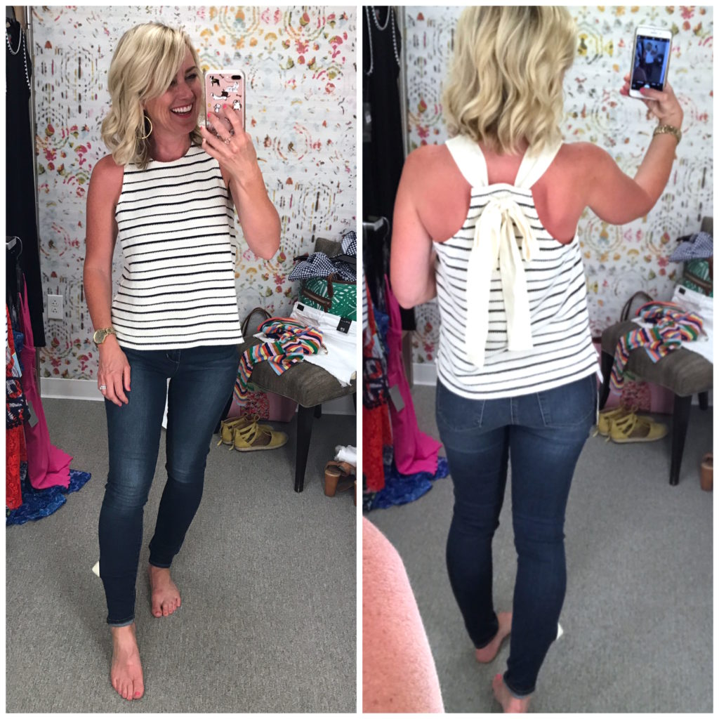 madewell bow back top