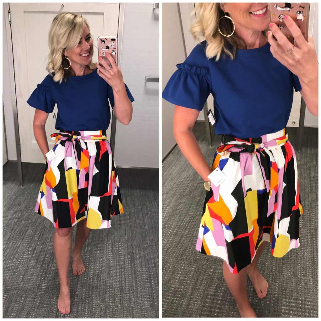 nordstrom graphic skirt ruffle top