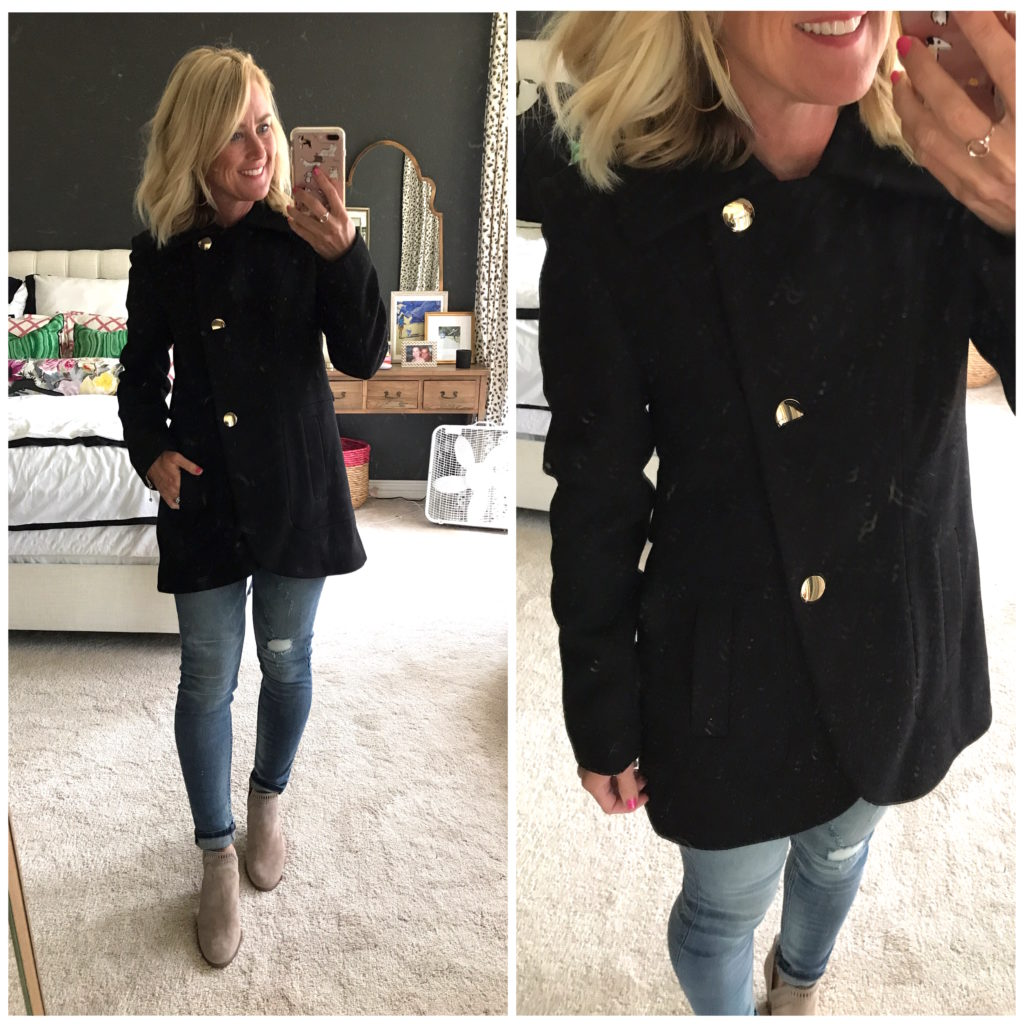 french connection pea coat