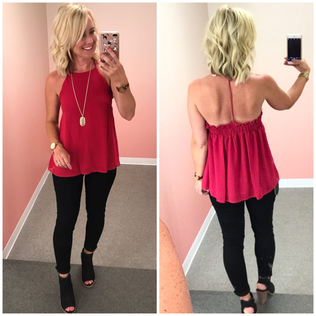 nordstrom anniversary sale y-back blouse