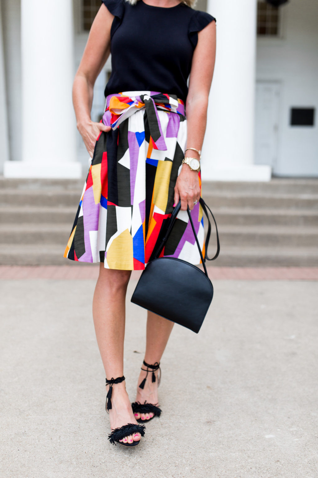 nordstrom workwear style graphic skirt