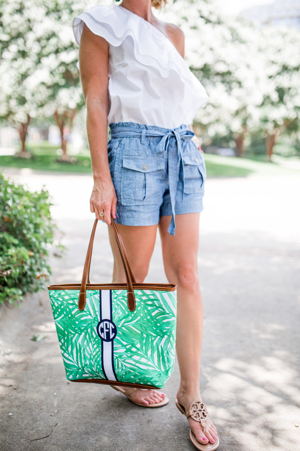 barrington gifts palm print tote