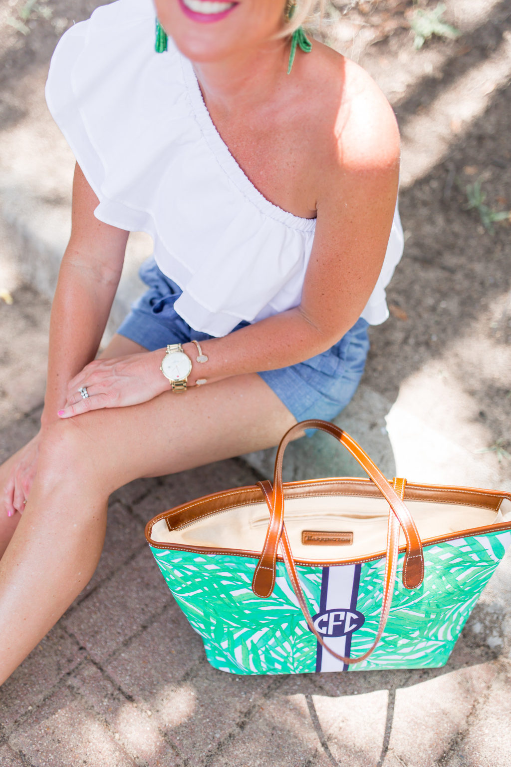ruffle top summer outfit
