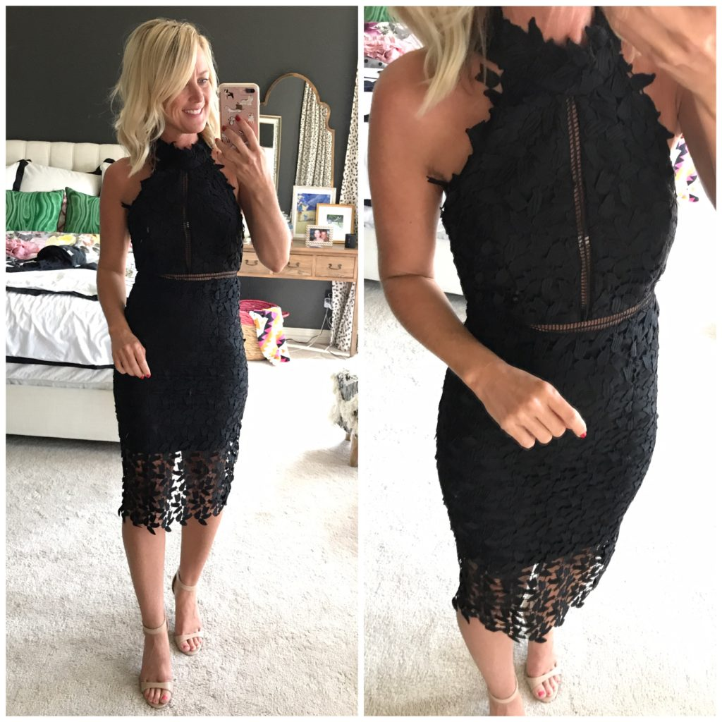 nordstrom black lace dress