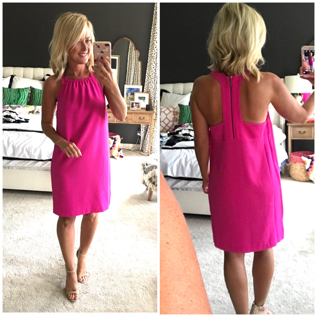 nordstrom pink racerback dress