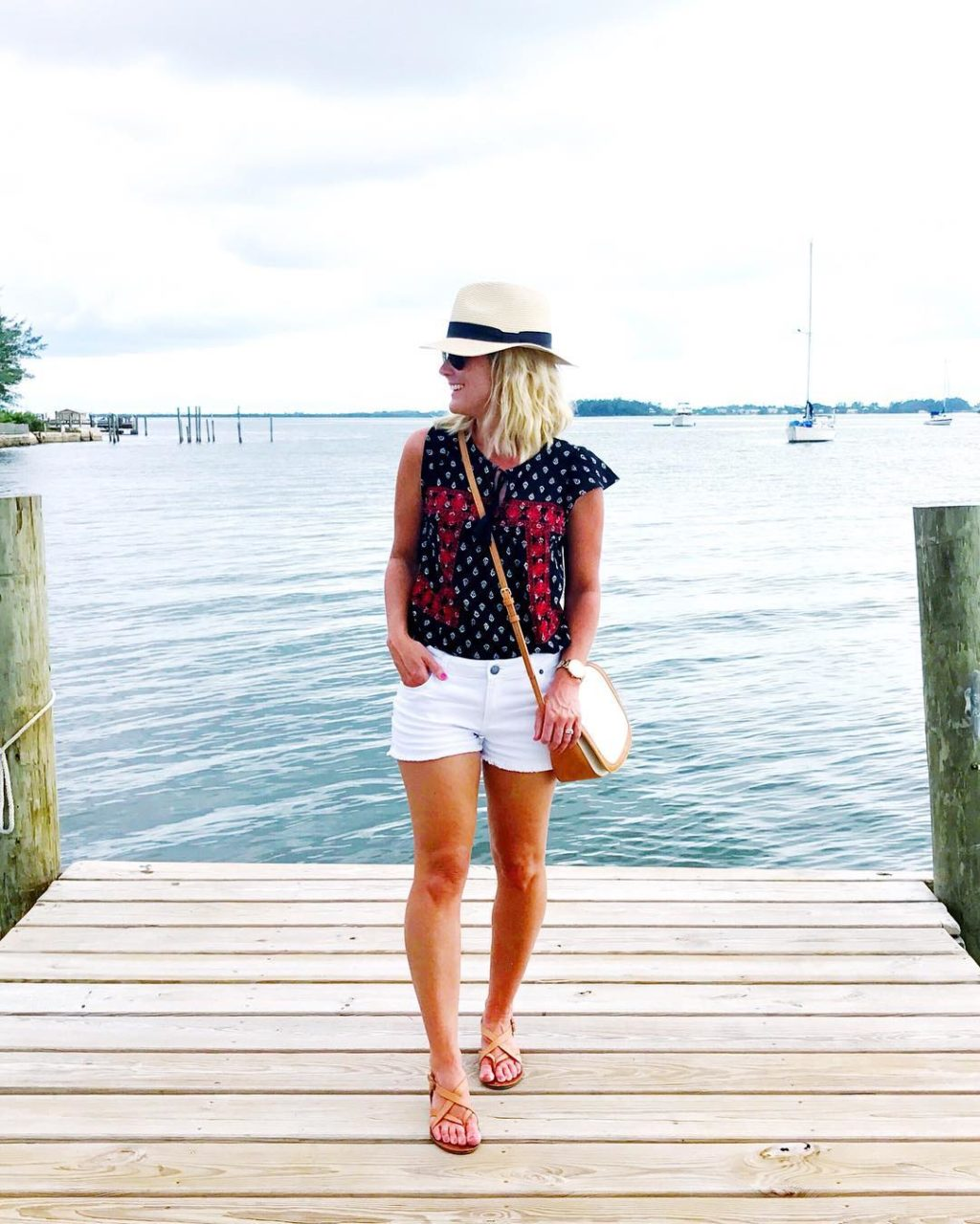 old navy embroidered top beach style